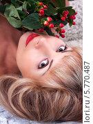 Портрет светловолосой женщины. Стоковое фото, фотограф Daniil Nikiforov / Фотобанк Лори