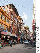 Катманду, улица в туристическом районе Тамель, фото № 5777755, снято 29 сентября 2012 г. (c) Юлия Бабкина / Фотобанк Лори