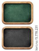Зеленая и черная меловые доски в деревянных рамах. Стоковое фото, фотограф Андрей Кузьмин / Фотобанк Лори