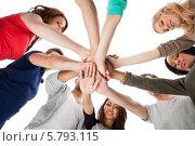 Купить «команда студентов», фото № 5793115, снято 2 февраля 2014 г. (c) Андрей Попов / Фотобанк Лори
