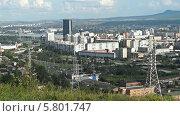 Купить «Город Красноярск с Караульной сопки», видеоролик № 5801747, снято 14 августа 2013 г. (c) Ирина Егорова / Фотобанк Лори