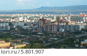 Купить «Город Красноярск с Караульной сопки», видеоролик № 5801907, снято 14 августа 2013 г. (c) Ирина Егорова / Фотобанк Лори