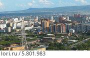 Купить «Вид на Красноярск», видеоролик № 5801983, снято 14 августа 2013 г. (c) Ирина Егорова / Фотобанк Лори