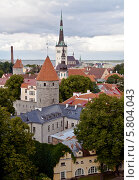Вид на Таллин (2012 год). Стоковое фото, фотограф Олег Прокофьев / Фотобанк Лори