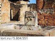 Уличный фонтан в городе Помпеи, Италия (2012 год). Стоковое фото, фотограф Анна Чуева / Фотобанк Лори