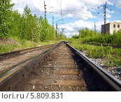 Купить «Железная дорога летним днем», фото № 5809831, снято 6 июня 2010 г. (c) Евгений Ткачёв / Фотобанк Лори