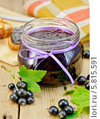 Купить «Варенье из черной смородины», фото № 5815591, снято 2 августа 2013 г. (c) Резеда Костылева / Фотобанк Лори