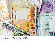 Купить «Различные купюры республики Армения», фото № 5822235, снято 4 июля 2013 г. (c) Евгений Ткачёв / Фотобанк Лори