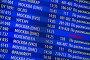Купить «Отменённый рейс на табло вылета в аэропорту», эксклюзивное фото № 5823583, снято 31 марта 2014 г. (c) Александр Тарасенков / Фотобанк Лори