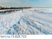 Кристаллы соли и камни на берегу солёного озера Эльтон на закате солнца (2014 год). Стоковое фото, фотограф Андрей Малышкин / Фотобанк Лори