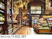 Купить «Интерьер Елисеевского магазина в Москве», эксклюзивное фото № 5832387, снято 9 мая 2013 г. (c) Алёшина Оксана / Фотобанк Лори