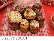Купить «Пасхальный кулич», эксклюзивное фото № 5839331, снято 19 апреля 2014 г. (c) Дмитрий Неумоин / Фотобанк Лори