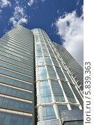 Купить «Небоскреб, бизнес-центр, Nordstar Tower в Москве», фото № 5839363, снято 24 апреля 2014 г. (c) Валерия Попова / Фотобанк Лори