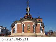 Купить «Церковь Серафима Саровского в Александрове», эксклюзивное фото № 5845211, снято 11 апреля 2014 г. (c) lana1501 / Фотобанк Лори