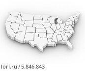 Купить «Карта США», иллюстрация № 5846843 (c) Maksym Yemelyanov / Фотобанк Лори