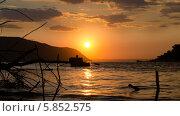 Закат на Волге. Стоковое фото, фотограф Александр Нападов / Фотобанк Лори