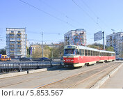 Купить «Трамвай №6.  Москва.», эксклюзивное фото № 5853567, снято 25 апреля 2014 г. (c) Николай Коржов / Фотобанк Лори