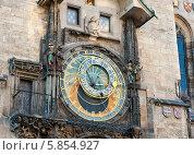 Купить «Астрономические часы на Староместской ратуше. Прага. Чехия», фото № 5854927, снято 23 апреля 2014 г. (c) E. O. / Фотобанк Лори