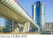 "Купить «Мост ""Багратион"" через Москву-реку», эксклюзивное фото № 5861915, снято 26 апреля 2014 г. (c) Виктор Тараканов / Фотобанк Лори"