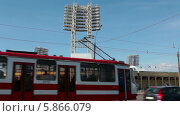 Купить «Стадион Петровский, Санкт-Петербург», видеоролик № 5866079, снято 30 апреля 2014 г. (c) Кекяляйнен Андрей / Фотобанк Лори