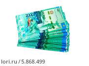 Купить «Двухтысячные купюры Казахстана», эксклюзивное фото № 5868499, снято 12 декабря 2018 г. (c) Blekcat / Фотобанк Лори