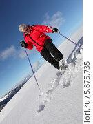 пожилой мужчина катается на лыжах, фото № 5875735, снято 10 января 2010 г. (c) Phovoir Images / Фотобанк Лори