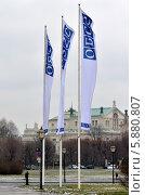 Флаги ОБСЕ в Вене (2014 год). Стоковое фото, фотограф Окунев Александр Владимирович / Фотобанк Лори