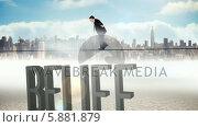 Купить «Businessman walking across tightrope with belief text», видеоролик № 5881879, снято 4 июля 2020 г. (c) Wavebreak Media / Фотобанк Лори