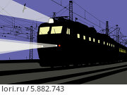 Купить «Ночной поезд», иллюстрация № 5882743 (c) Ярослав Каминский / Фотобанк Лори