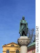 Купить «Статуя ярла Биргера, Стокгольм», фото № 5882947, снято 24 апреля 2014 г. (c) Boris Breytman / Фотобанк Лори