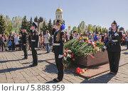 Почетный караул на Поклонной горе в День Победы 9 мая 2014 года. Редакционное фото, фотограф Алёшина Оксана / Фотобанк Лори