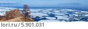 Купить «Панорамный вид на весенний Байкал с мыса Хобой», фото № 5901031, снято 3 мая 2014 г. (c) Виктория Катьянова / Фотобанк Лори
