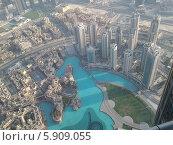 ОАЭ, Дубай, Вид на Дубай со смотровой площадки небоскрёба Бурдж Халифа (2014 год). Редакционное фото, фотограф Луиза Варфоломеева / Фотобанк Лори