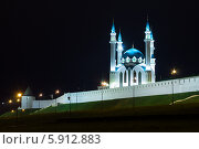 Мечеть Кул Шариф в Казанском кремле. Ночной вид (2014 год). Стоковое фото, фотограф Евгений Самсонов / Фотобанк Лори