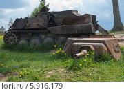 Ржавый развалившийся танк. Стоковое фото, фотограф Павел Паладьев / Фотобанк Лори