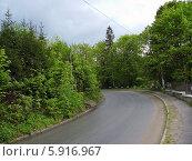 Поворот дороги. Стоковое фото, фотограф Андрей  Васильевич  Коляскин / Фотобанк Лори