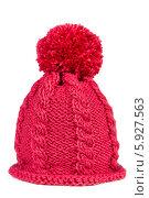 Купить «Вязаная шапка с помпоном», фото № 5927563, снято 3 января 2014 г. (c) Наталия Пыжова / Фотобанк Лори