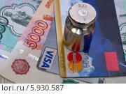 Visa и MasterCard под тяжестью проблем. Концепция (2014 год). Редакционное фото, фотограф Аркадий Рыпин / Фотобанк Лори