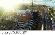 Вид на строительныю площадку сверху (2014 год). Редакционное видео, видеограф Евгений / Фотобанк Лори