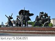 Купить «Памятник героям революции 1905 года около метро, Москва», эксклюзивное фото № 5934051, снято 17 мая 2014 г. (c) lana1501 / Фотобанк Лори