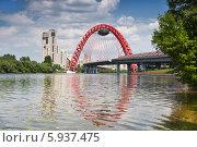 Купить «Москва-река и Живописный мост», фото № 5937475, снято 25 мая 2014 г. (c) Наталья Волкова / Фотобанк Лори