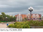 Театральная площадь город Биробиджана (2012 год). Стоковое фото, фотограф Ольга Разуваева / Фотобанк Лори