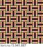 Купить «Бесшовный плетёный орнамент в ярких тонах», иллюстрация № 5941887 (c) Astronira / Фотобанк Лори