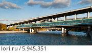 """Станция метро """"Воробьёвы горы"""", вид с набережной. Стоковое фото, фотограф Денис Веселов / Фотобанк Лори"""