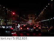 Купить «Франция. Париж. Ночная улица», фото № 5952831, снято 1 февраля 2014 г. (c) Куликов Константин / Фотобанк Лори