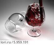 Купить «Бокал красного вина», иллюстрация № 5959191 (c) Maksym Yemelyanov / Фотобанк Лори