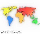 Купить «Разноцветная карта мира», иллюстрация № 5959295 (c) Maksym Yemelyanov / Фотобанк Лори