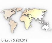 Купить «Карта мира с золотистым отливом», иллюстрация № 5959319 (c) Maksym Yemelyanov / Фотобанк Лори