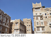 Купить «Йемен, Сана, архитектура старого города», фото № 5959691, снято 18 марта 2014 г. (c) Овчинникова Ирина / Фотобанк Лори