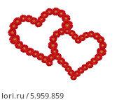 Купить «Сердце из цветов», фото № 5959859, снято 23 июля 2019 г. (c) Anton  Repin / Фотобанк Лори